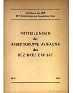 Mitteilungen der Arbeitsgruppe Avifauna des Bezirkes Erfurt Nr. 2 1974. - Több német szerző