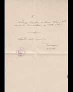 Tömörkény István (1866–1917) író saját kézzel írt és aláírt feljegyzése a Szeged városi Somogyi Károly Könyvtár és Városi Múzeum kiadványai ügyében - Tömörkény István