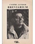 Csoóri Sándor Breviárium - Vasy Géza (szerk.)