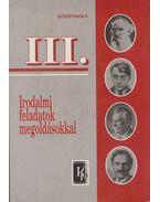 Irodalmi feladatok megoldásokkal III. - Vasy Géza, Vasy Gézáné