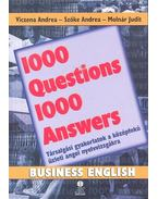 1000 Questions 1000 Answers - Business English - Viczena Andrea, Szőke Andrea, Molnár Judit
