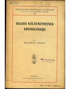 Balassi költeményeinek kronológiája - Waldapfel József