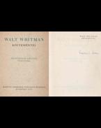 Walt Whitman költeményei (Fordító által aláírt, számozott) - Walt Whitman