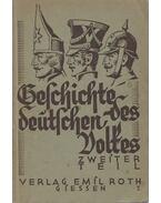 Geschichte des Deutschen Volkes Band 2. - Wilhelm Füßler