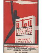 A toll I. évf. 16. sz. (1929. augusztus 4.) - Zsolt Béla