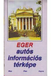 Eger autós információs térképe - -- - Régikönyvek
