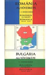 Románia autótérképe - Bulgária autótérképe (1:1000000) - -- - Régikönyvek