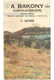 A Bakony turistatérképe (északi rész) (1: 40 000) - Régikönyvek