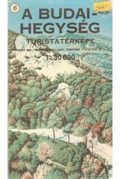 A Budai-hegység turistatérképe 1: 30 000 - Régikönyvek
