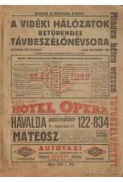A vidéki hálózatok betűrendes távbeszélőnévsora 1948. október - Régikönyvek