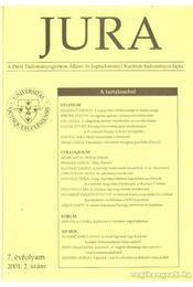 Jura 2001. 2. szám - Ádám Antal - Régikönyvek