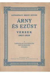 Árny és ezüst - Agyagfalvi Hegyi István - Régikönyvek