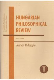 Hungarian Philosophical Review Vol. 62. (2018/4) - Ambrus Gergely , Friedrich Stadler - Régikönyvek