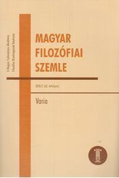Magyar Filozófiai Szemle 2018/2 - Ambrus Gergely  - Régikönyvek