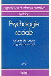 Psychologie sociale I. - André Lévy - Régikönyvek