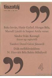Tiszatáj 1994 ápr./48. évf. - Annus József - Régikönyvek