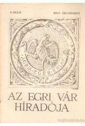 Az Egri Vár híradója 1962. december 4. szám - Szabó János Győző - Régikönyvek