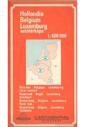 Hollandia - Belgium - Luxemburg autótérképe 1:600 000 - Régikönyvek