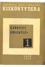 Gárdonyi-emlékülés - Dr. Nagy Sándor - Régikönyvek