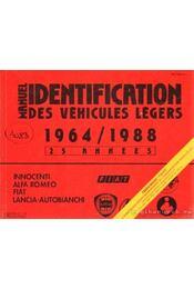 Manuel de l'Identification des véhicules légers de 1964 á 1988 (piros) - Régikönyvek