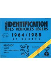Manuel de l'Identification des véhicules légers de 1964 á 1988 (kék) - Régikönyvek