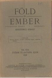 Föld és ember 1928. VIII. évf. 5-6. szám - Kogutowicz Károly - Régikönyvek