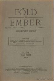Föld és ember 1929. IX. évf. 1. szám - Kogutowicz Károly - Régikönyvek