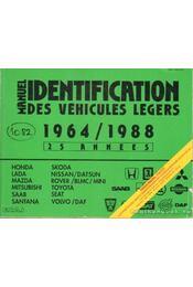 Manuel de l'Identification des véhicules légers de 1964 á 1988 (zöld) - Régikönyvek