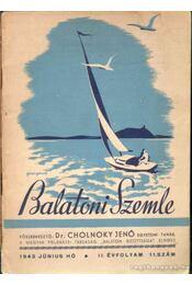 Balatoni Szemle II. évf. 11. szám - Cholnoky Jenő - Régikönyvek