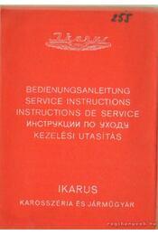 Ikarusz autóbusz 255.70 E; 255.70 V kezelési és karbantartási utasítás - Régikönyvek