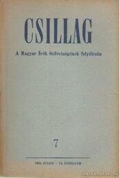 Csillag 1953./7. július - Aczél Tamás, Király István, Urbán Ernő - Régikönyvek