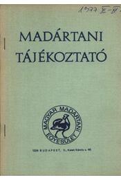 Madártani tájékoztató 1977. november-december - Több szerző - Régikönyvek