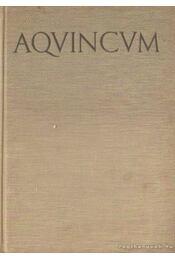 Aquincum - Szilágyi János - Régikönyvek