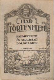 Hadtörténelem 1921. 3. szám - Szelestey László - Régikönyvek