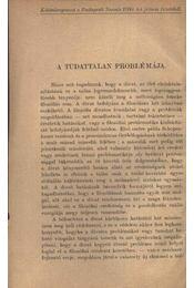 A tudattalan problémája - Dr. Bartók György - Régikönyvek