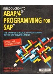 ABAP/4 programming for SAP - Lyfareff, Robert, Bruyn, Gareth M. de - Régikönyvek
