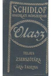 Schidlof gyakorlati módszerének magyar-olasz zsebszótára (mini) - Dr. Honti Rezső - Régikönyvek
