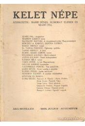 Kelet népe 1936. julius-augusztus - Muhoray Elemér (szerk.), Barsi Dénes, Szabó Pál - Régikönyvek