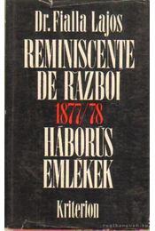Háborús emlékek 1877-78-ból - Fialla Lajos Dr. - Régikönyvek
