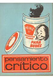 Pensamiento crítico 1970. Agosto Numero 43. - Több szerző - Régikönyvek