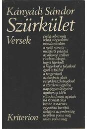 Szürkület - Kányádi Sándor - Régikönyvek