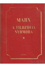 A filozófia nyomora - Marx - Régikönyvek