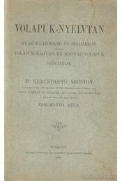 Volapük-nyelvtan - Dr. Kerckhoffs Ágoston - Régikönyvek