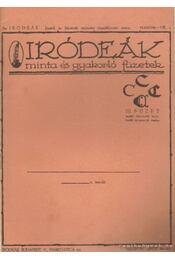 Iródeák - minta és gyakorló füzetek III. füzet - Régikönyvek