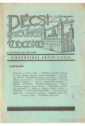 Pécsi katolikus tudósitó 1934. XII. évf. december - Régikönyvek