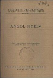Angol nyelv - Régikönyvek