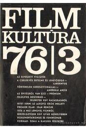 Filmkultúra 76/3 - Több szerkesztő - Régikönyvek