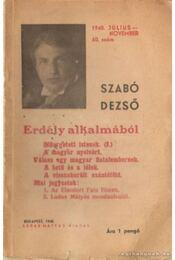 Erdély alkalmából 1940. július-november 60. szám - Szabó Dezső - Régikönyvek