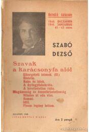 Szavak a karácsonyfa alól 1940. december 1941. január 61-62. szám - Szabó Dezső - Régikönyvek