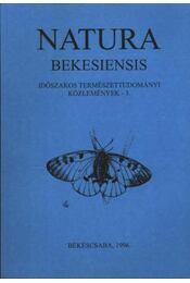 Natura Bekesiensis 1996/3. - Réthy Zsigmond - Régikönyvek